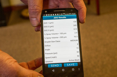 Mobile apps allow applicators to check nozzle size, angle and droplet size on site.